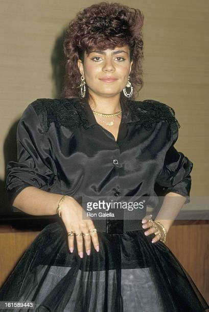 Singer Lisa Lisa attends the Fifth Annual American Video Awards on February 26 1987 at Scottish Rite Auditorium in Los Angeles California