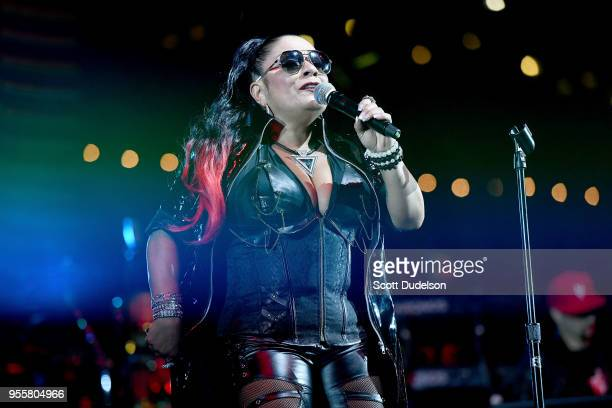 Singer Lisa Lisa of Lisa Lisa and Cult Jam performs onstage during the 13th annual Freestyle Festival at The Queen Mary on May 5 2018 in Long Beach...