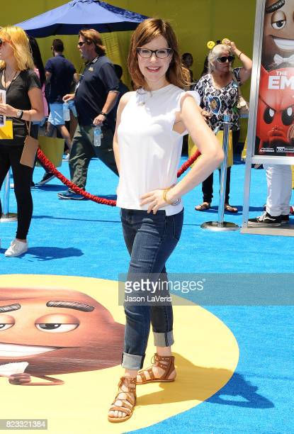 Singer Lisa Loeb attends the premiere of 'The Emoji Movie' at Regency Village Theatre on July 23 2017 in Westwood California