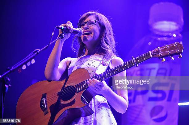 Singer Lisa Loeb performs onstage during Crystal Pepsi Summer of '92 at Terminal 5 on August 9 2016 in New York City
