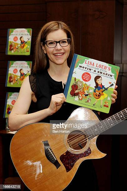 Singer Lisa Loeb performs songs from 'Lisa Loeb's Songs For Movin' And Shakin' The Air Band Song And Other ToeTapping Tunes' at Barnes Noble...