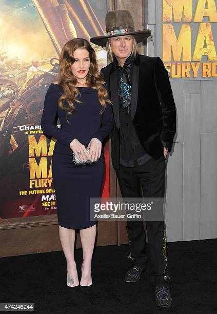 Singer Lisa Marie Presley and musician Michael Lockwood arrive at the Los Angeles premiere of 'Mad Max Fury Road' at TCL Chinese Theatre IMAX on May...
