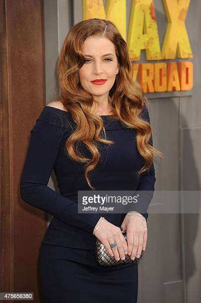 Singer Lisa Marie Presley arrives at the Mad Max Fury Road Los Angeles Premiere at TCL Chinese Theatre IMAX on May 7 2015 in Hollywood California