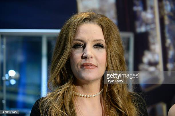 Singer Lisa Marie Presley attends the ribboncutting ceremony during the grand opening of Graceland Presents ELVIS The Exhibition The Show The...