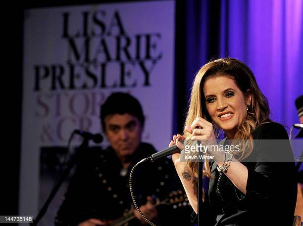 Singer Lisa Marie Presley performs in support of her new album Storm Grace at The GRAMMY Museum on May 17 2012 in Los Angeles California
