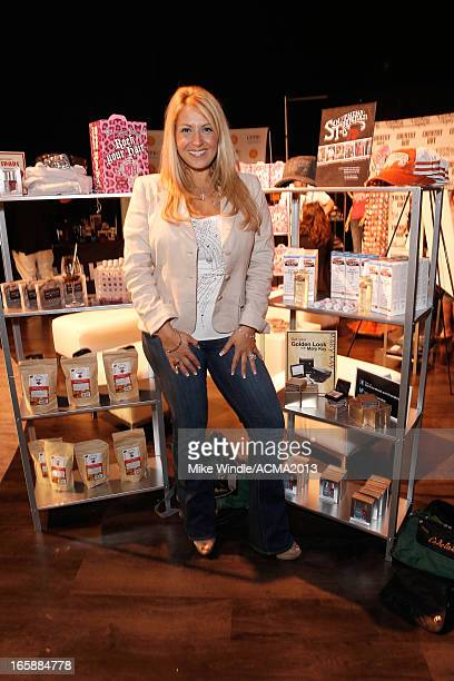 Singer Lisa Matassa attends the gift lounge during the 48th Annual Academy of Country Music Awards at the MGM Grand Garden Arena on April 6 2013 in...