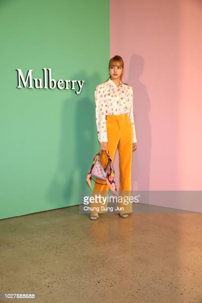 Singer Lisa of Blackpink attends the Mulberry A/W 18 event at K museum on September 6 2018 in Seoul South Korea
