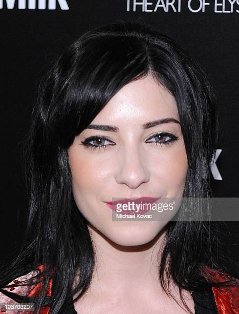"""Singer Lisa Origliasso of musical group """"The Veronicas"""" arrives at The Art of Elysium's 2nd Annual Genesis Awards at Milk Studios on August 28, 2010..."""