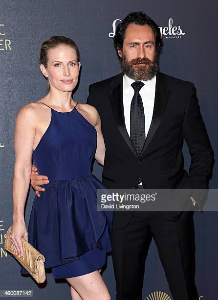 Singer Lisset Gutierrez and husband actor Demian Bichir attend The Music Center's 50th Anniversary Spectacular at the Dorothy Chandler Pavilion on...