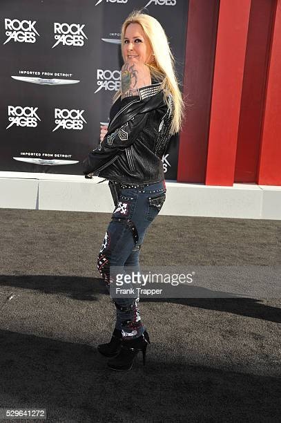 Singer Lita Ford arrives at the world premiere of Rock of Ages held at Grauman's Chinese Theater in Hollywood