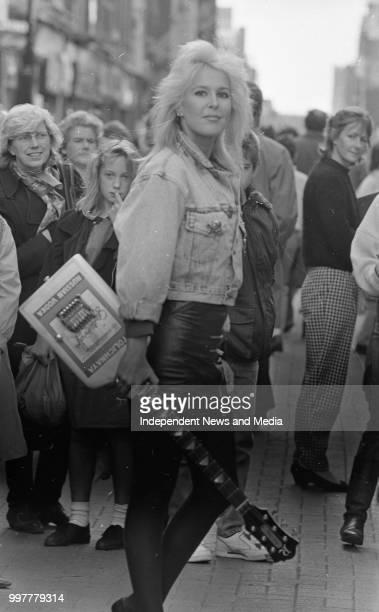 Singer Lita Ford in Henry Street, circa October 1988 . .