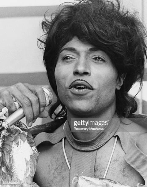 Singer Little Richard performing at Wembley Stadium, 1972.
