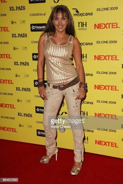 Singer Liz Clapes attends the Muestra de Cine Español EsCine 2nd Edition by Nextel at Cinepolis Diana on November 26 2009 in Mexico City Mexico