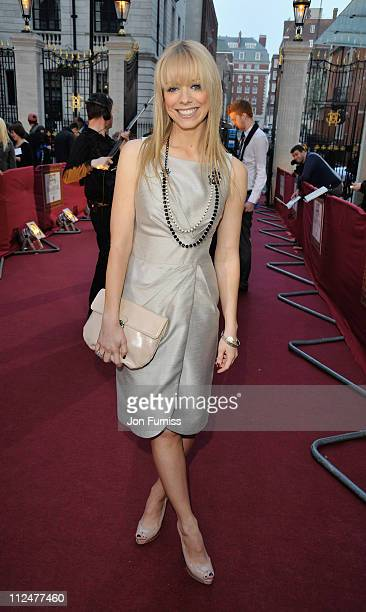 Singer Liz McClarnon arrives at the Galaxy British Book Awards at Grosvenor House on April 3 2009 in London England