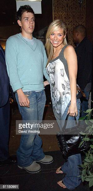 Singer Liz McClarnon former member of pop group Atomic Kitten and her brother attend the joint birthday bash for glamour model Linsey Dawn McKenzie...