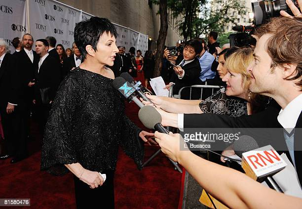 Singer Liza Minnelli attends the 62nd Annual Tony Awards at Radio City Music Hall on June 15, 2008 in New York City.