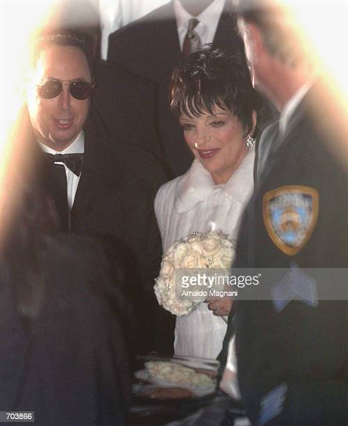 Singer Liza Minnelli exits Marble Collegiate Church with her new husband producer David Gest March 16 2002 in New York City This is Minnelli's fourth...