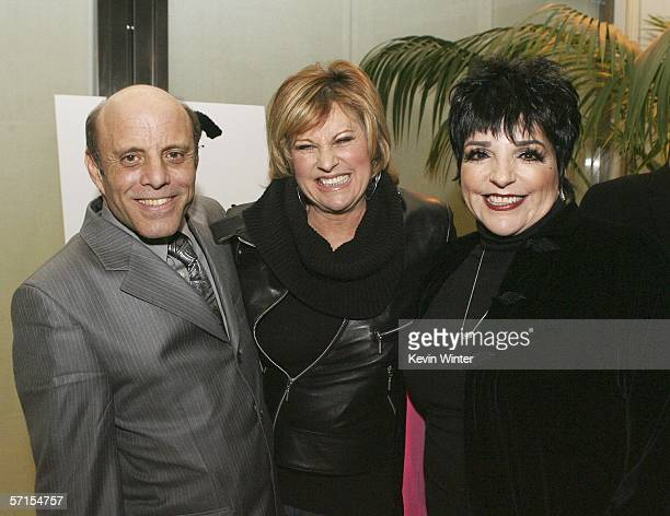 "Singer Liza Minnelli , her brother Joe Luft and her sister, singer Lorna Luft pose at the west coast premiere of Showtime's ""Liza with a Z"" at the..."