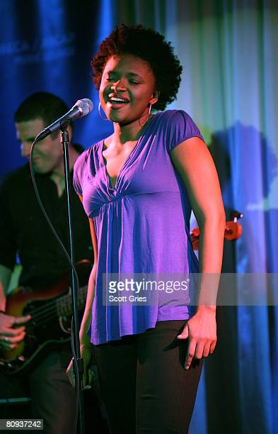 Singer Lizz Wright performs during the Tribeca ASCAP Music Lounge during the 2008 Tribeca Film Festival on April 30 2008 in New York City