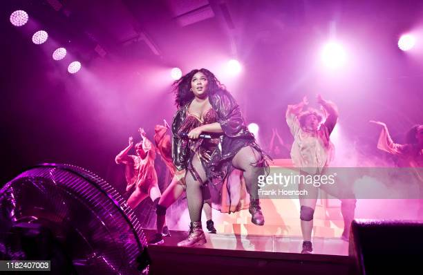 Singer Lizzo performs live on stage during a concert at the Columbiahalle on November 14, 2019 in Berlin, Germany.
