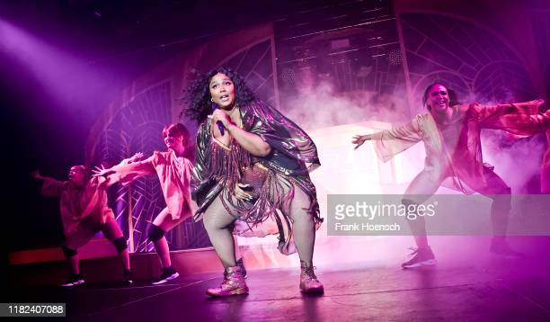 Singer Lizzo performs live on stage during a concert at the Columbiahalle on November 14 2019 in Berlin Germany