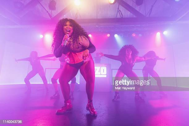 Singer Lizzo performs onstage in front of a sold out crowd during the 'Cuz I Love You Too Tour' at Showbox SoDo on April 28 2019 in Seattle Washington