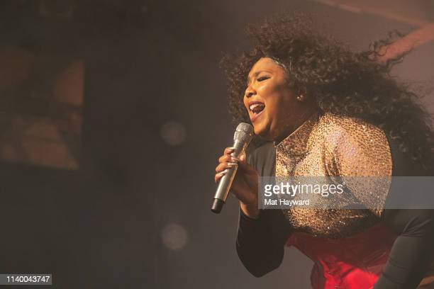Singer Lizzo performs onstage in front of a sold out crowd during the 'Cuz I Love You Too Tour' at Showbox SoDo on April 28, 2019 in Seattle,...