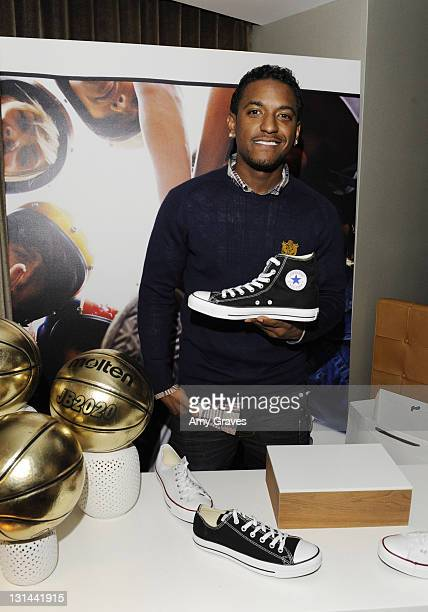 Singer Lloyd attends the Converse Gifting Suite All Star Weekend Day 2 at SLS Hotel on February 19 2011 in Beverly Hills California