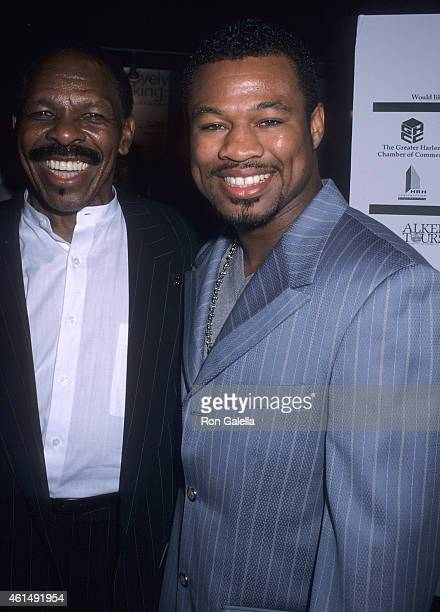 Singer Lloyd Price and former boxer Sugar Shane Mosley attends the First Annual National Black Sports and Entertainment Hall of Fame Induction...