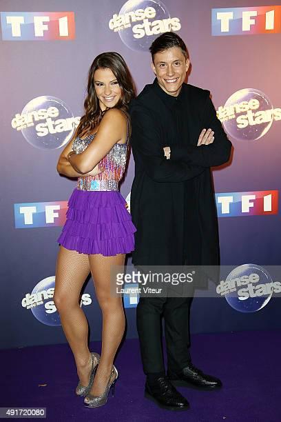 Singer Loic Nottet and Dancer Denitsa Ikonomova attend the 'Danse Avec Les Stars 2015' Photocall At TF1 on October 7 2015 in Paris France