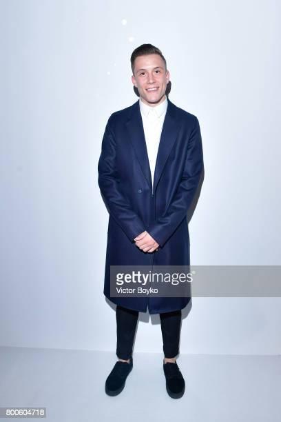 Singer Loic Nottet attends the Balmain Menswear Spring/Summer 2018 show as part of Paris Fashion Week on June 24 2017 in Paris France