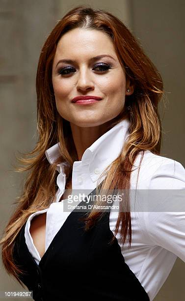 Singer Lola Ponce attends 'I Promessi Sposi' Press Conference held at Palazzo Marino on June 10, 2010 in Milan, Italy.
