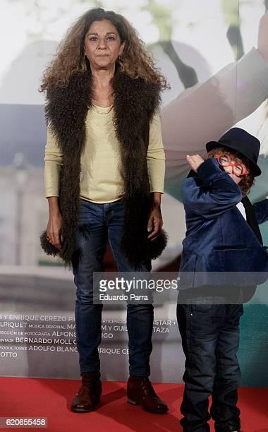 Singer Lolita Flores and actor Jan Moll attend the 'La historia de Jan' photocall at Verdi cinema on November 2 2016 in Madrid Spain