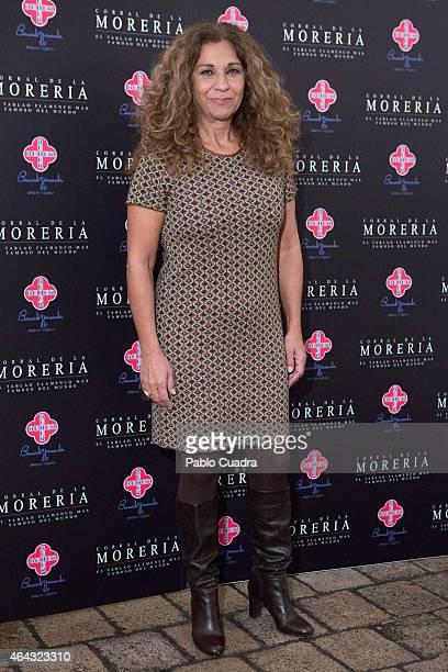 Singer Lolita Flores attends Pata Negra awards ceremony at 'Corral de la Moreria' on February 24 2015 in Madrid Spain