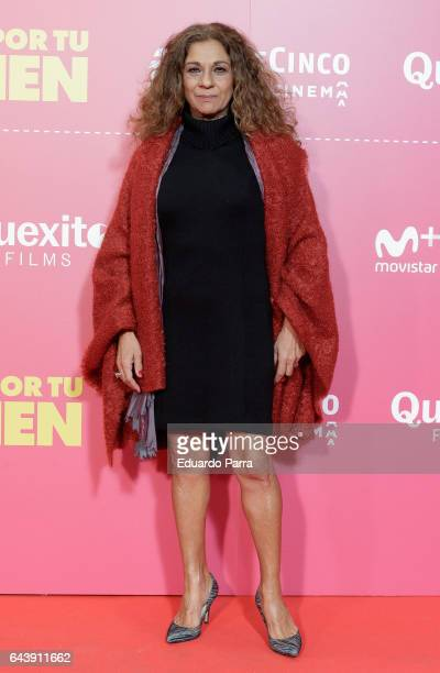 Singer Lolita Flores attends the 'Es por tu bien' premiere at Capitol cinema on February 22 2017 in Madrid Spain