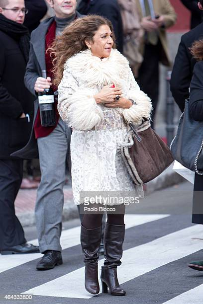 Singer Lolita Flores is seen on February 25 2015 in Madrid Spain