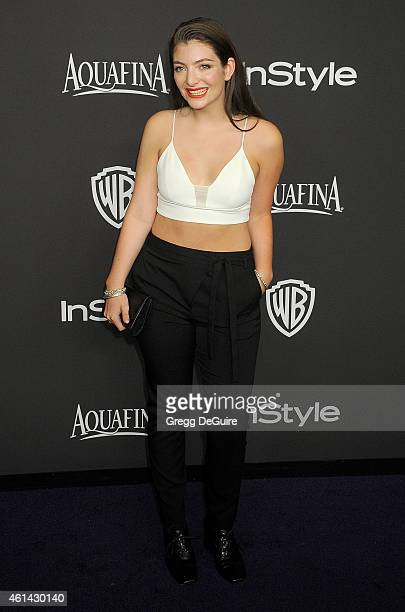 Singer Lorde arrives at the 16th Annual Warner Bros. And InStyle Post-Golden Globe Party at The Beverly Hilton Hotel on January 11, 2015 in Beverly...