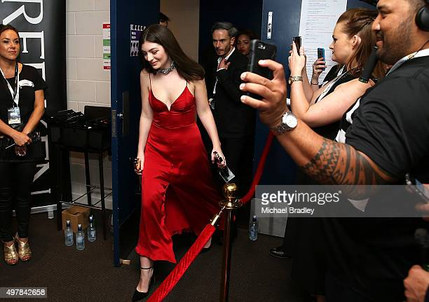 Singer Lorde at the Vodafone New Zealand Music Awards at Vector Arena on November 19, 2015 in Auckland, New Zealand.