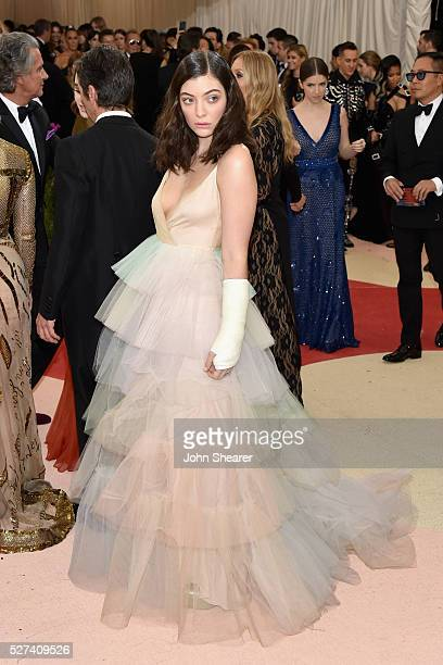 Singer Lorde attends the 'Manus x Machina Fashion In An Age Of Technology' Costume Institute Gala at Metropolitan Museum of Art on May 2 2016 in New...