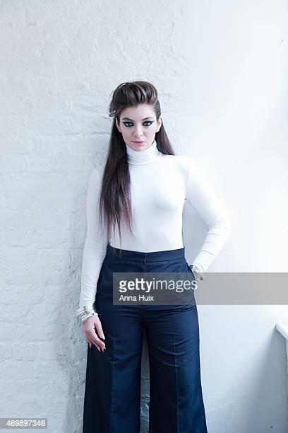 Singer Lorde is photographed for the Telegraph on November 11 2014 in London England
