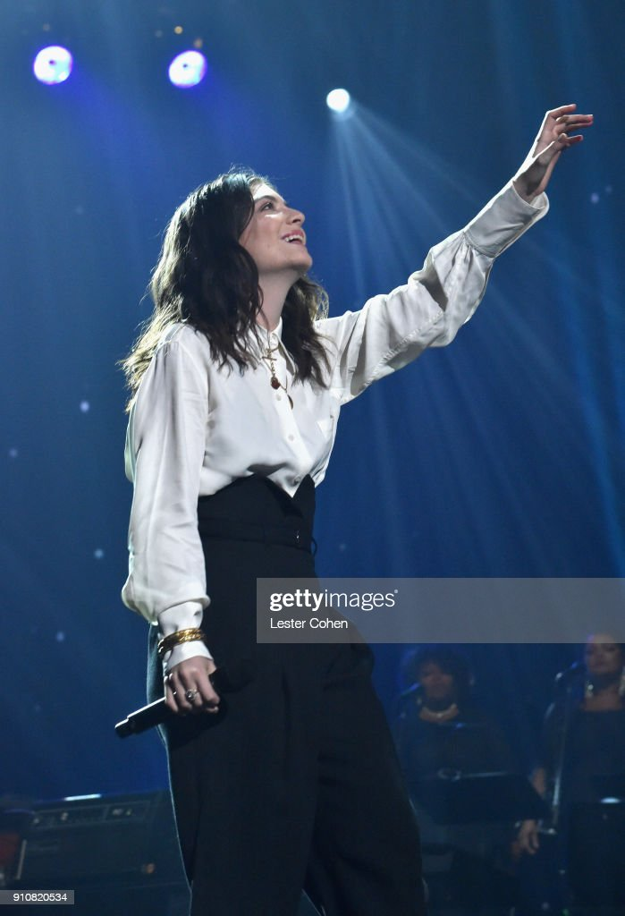 Singer Lorde performs onstage at MusiCares Person of the Year honoring Fleetwood Mac at Radio City Music Hall on January 26, 2018 in New York City.