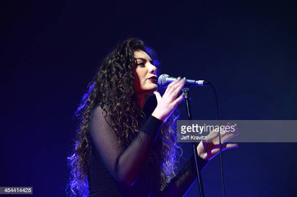 Singer Lorde performs onstage at the 24th Annual KROQ Almost Acoustic Christmas at The Shrine Auditorium on December 8, 2013 in Los Angeles,...