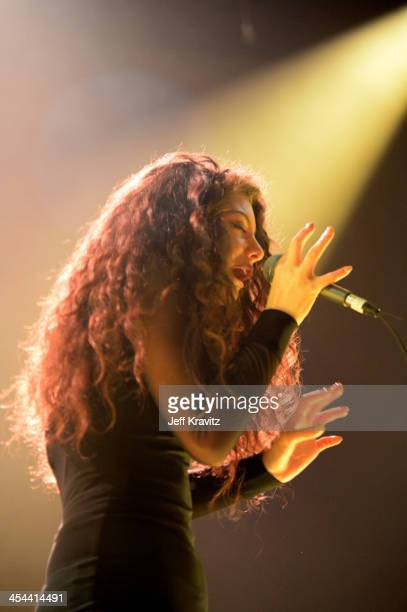 Singer Lorde performs onstage at the 24th Annual KROQ Almost Acoustic Christmas at The Shrine Auditorium on December 8 2013 in Los Angeles California