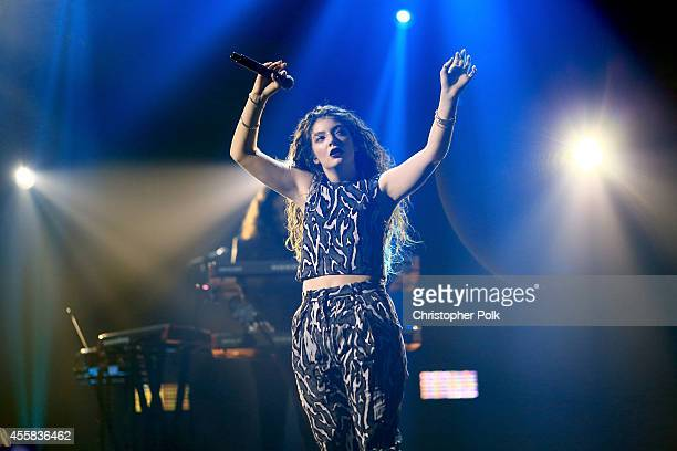 Singer Lorde performs onstage during the 2014 iHeartRadio Music Festival at the MGM Grand Garden Arena on September 20, 2014 in Las Vegas, Nevada.