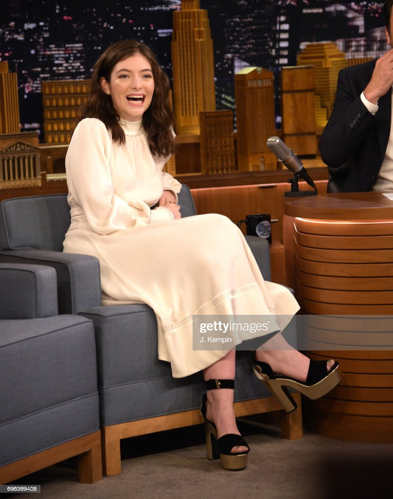Singer Lorde visits 'The Tonight Show Starring Jimmy Fallon' at Rockefeller Center on June 15, 2017 in New York City.