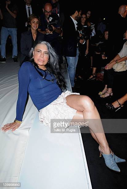 Singer Loredana Bertè attends the Ermanno Scervino Spring/Summer 2012 fashion show as part Milan Womenswear Fashion Week on September 22 2011 in...
