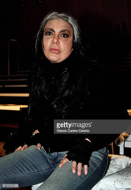 Singer Loredana Berte attends the Seduzioni Diamonds Milan Fashion Week Womenswear Autumn/Winter 2010 show on February 24 2010 in Milan Italy