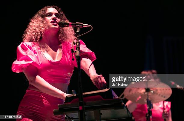 Singer Lorely Rodriguez of Empress Of performs at Charlotte Metro Credit Union Amphitheatre on September 15, 2019 in Charlotte, North Carolina.