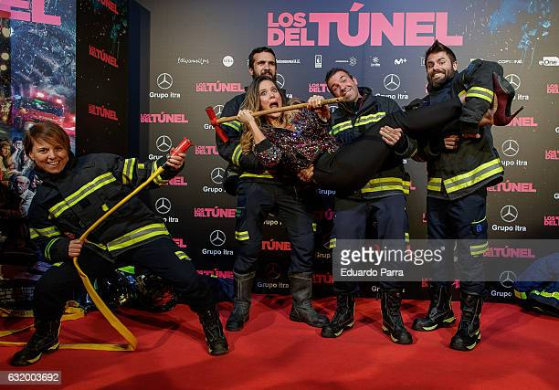 Singer Lorena Gomez attends 'Los del Tunel' premiere at Capitol cinema on January 18 2017 in Madrid Spain
