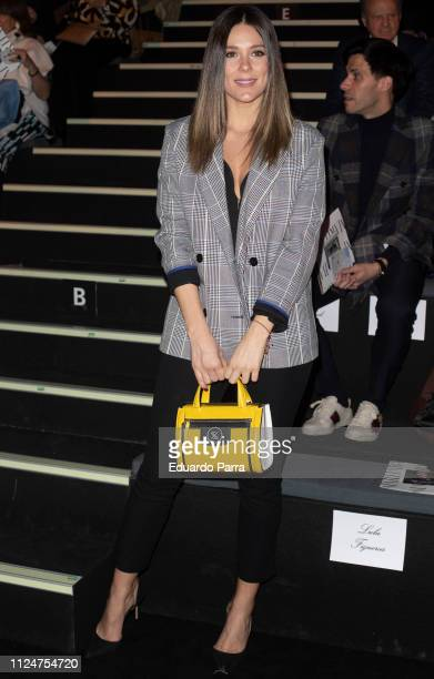 Singer Lorena Gomez attends Roberto Verino fashion show during the Mercedes Benz Fashion Week Autumn/Winter 20192020 at Ifema on January 25 2019 in...